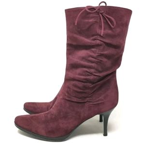 Barneys NY Berry Suede Boots 37 / 6 ITALY